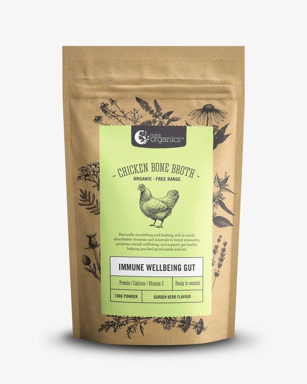 Nutra Organics Chicken Bone Broth - Garden Herb (100g)