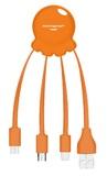 Xoopar: Octopus 2 - Charging Cable (Orange)