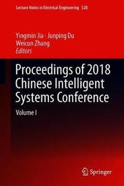 Proceedings of 2018 Chinese Intelligent Systems Conference