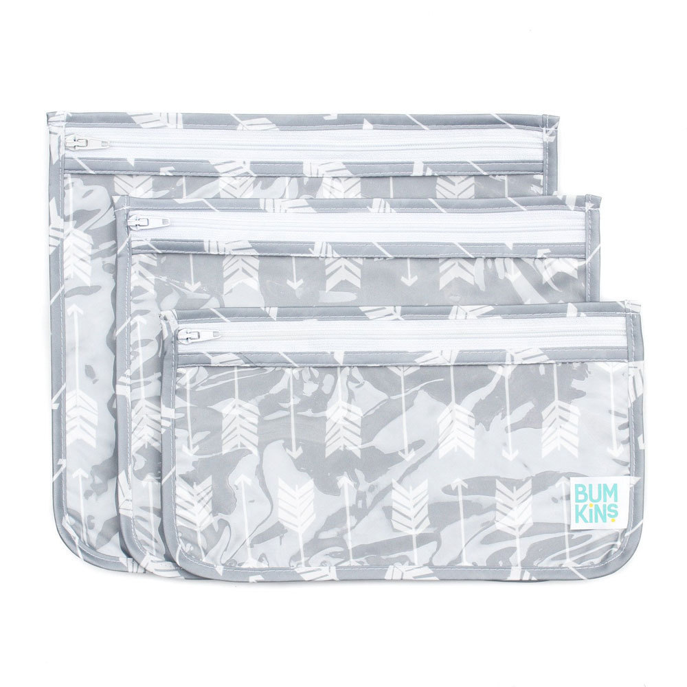 Bumkins: Clear Travel Bag - Arrows (3 Pack) image