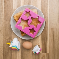 Unicorn Egg Cup and Star Toast Cutter Set image