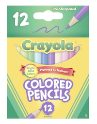 Crayola: 12 Half Size Coloured Pencils