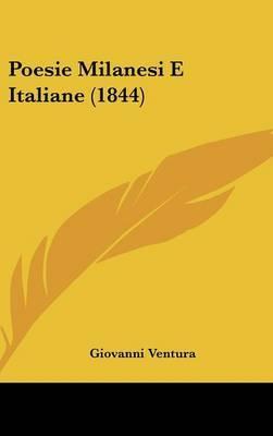 Poesie Milanesi E Italiane (1844) by Giovanni Ventura image
