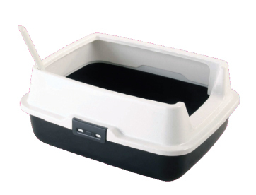 High Rim Kitty Litter Box & Scoop