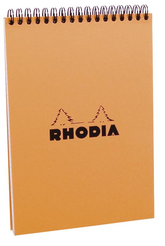 Rhodia Classic A5 Orange Wireb Pad - Dot Grid