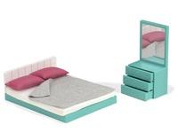Lori: Doll House Cozy Bedroom Set