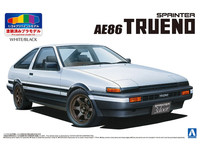 Aoshima: 1/24 Toyota AE86 Trueno 1983 (White / Black) Model Kit