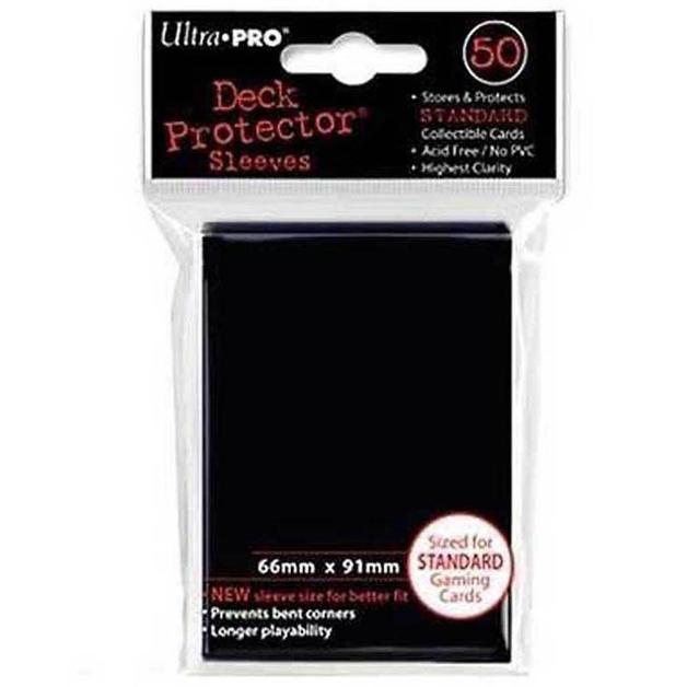 Ultra Pro Solid Deck Protectors: Raven Black (50)