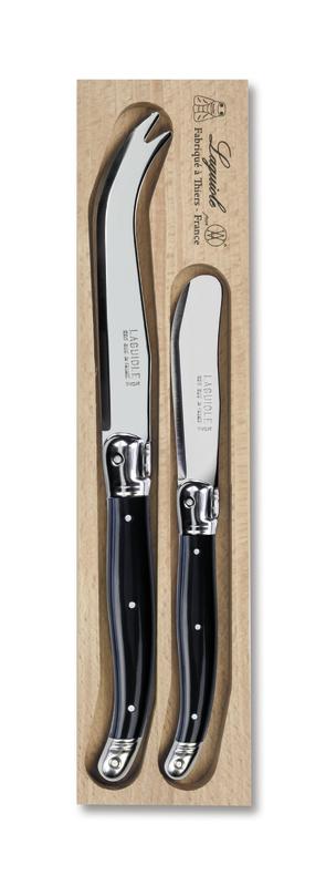 Andre Verdier Stainless Steel Cheese Knife Set - Black (Set of 2)