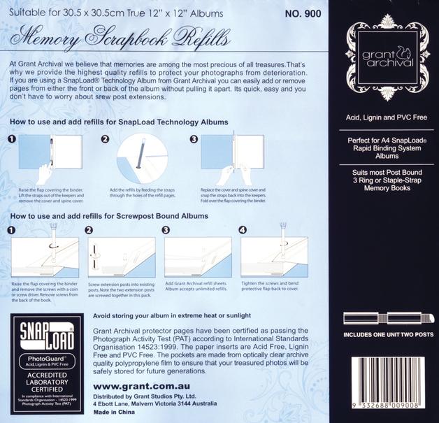Grants Studio Scrapbook Album Refill 12 x 12' (10 Pack)