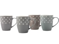 Casa Domani Crosses Mug Set of 4 (320ML)