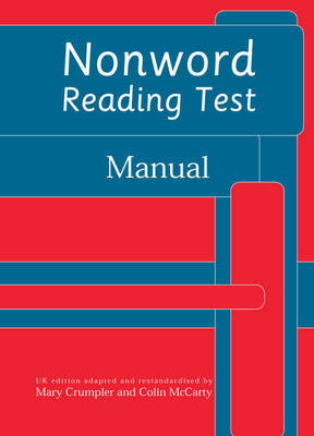 Nonword Reading Test: Manual by Colin McCarty image