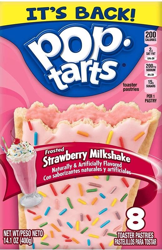 Kellogg's Pop Tarts Frosted Strawberry Milkshake