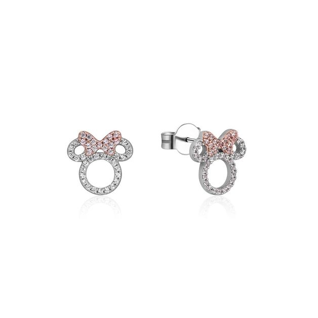 Couture Kingdom: Minnie Mouse Outline Studs (Cubic Zirconia)