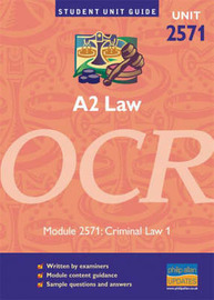 A2 Law OCR: Criminal Law: Unit 2571 by Leon Riley image