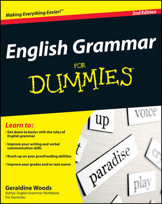 English Grammar For Dummies by Geraldine Woods image