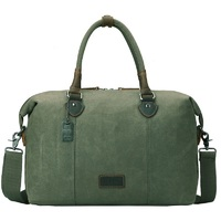 Troop London: Edison Waxed Canvas Holdall - Olive