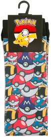 Pokemon: Pokeball Multi - Crew Socks