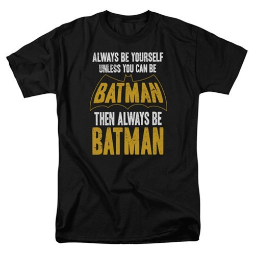 DC Comics: Be Batman - Men's T-Shirt (Small)