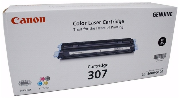 Canon CART307BK Black Toner Cartridge for LBP5000 - BLACK