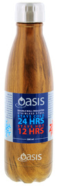 Oasis Insulated Stainless Steel Water Bottle - Teak (500ml)