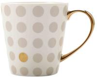 Maxwell & Williams Aurora Mug Gold Handle 300ML Spot Grey