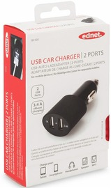 Ednet USB compact Dual Car Charger 2.4amp image