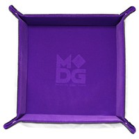 Velvet Folding Dice Tray: - Purple (10x10)