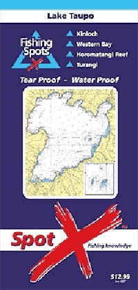 Spot X Lake Taupo Chart: Fishing Spots by X Spot