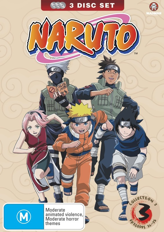 Naruto (Uncut) Collection 03 (Eps 26-38), on DVD