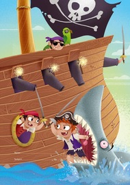 Spencil: 1B5 Book Cover - Pirates