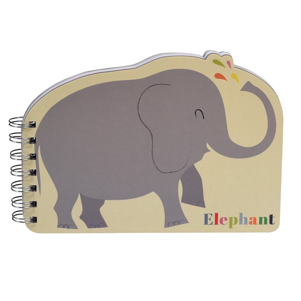 Colourful Creatures Spiral Notebook - Elephant image