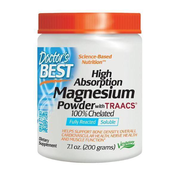 Doctor's Best High Absorption Magnesium Powder (200mg)