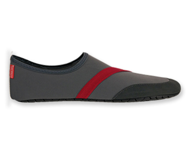 Fitkicks: Mens Foldable Footwear - Gray (Large)