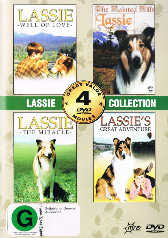 Lassie Collection (Well of Love, The Painted Hills, The Miracle, Lassie's Great Adventure) on DVD