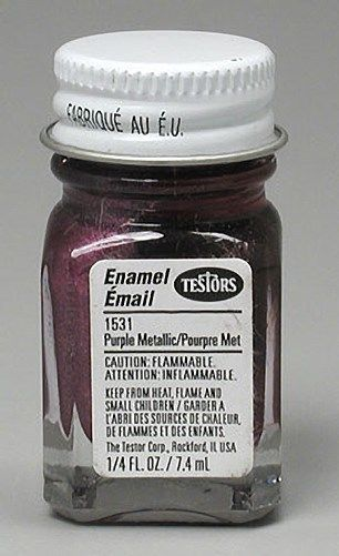 Testors: Metallic Enamel Paint - Metal Flake Purple