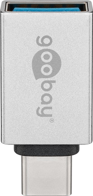 Goobay: USB-A to USB-C Super Speed Adapter - Silver