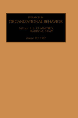 Research in Organizational Behavior: Volume 19 by Barry M Staw