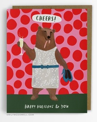 Emily McDowell: Cheers Bear - Greeting Card