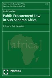 Public Procurement Law in Sub-Saharan Africa by Annika Engelbert image