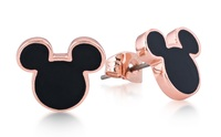 Disney Couture: Mickey Mouse Stud Earrings - Rose Gold