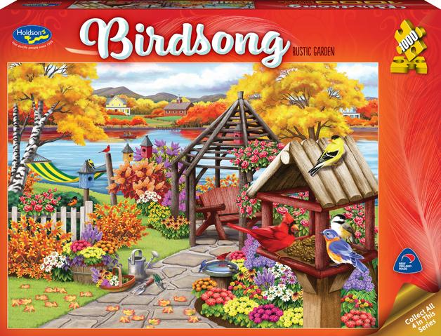 Holdson: 1000 Piece Puzzle - Birdsong (Rustic Garden)