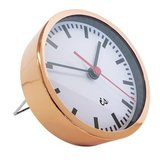 Copper Alarm Clock with Red Sweep Second Hand