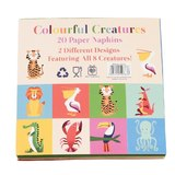 Rex Cocktail Napkins (Colourful Creatures, 20 Pack)