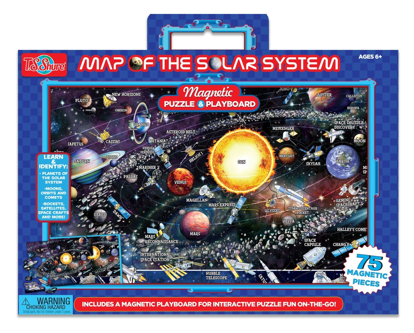 Map Of The Solar System - Magnetic Playboard & Puzzle image