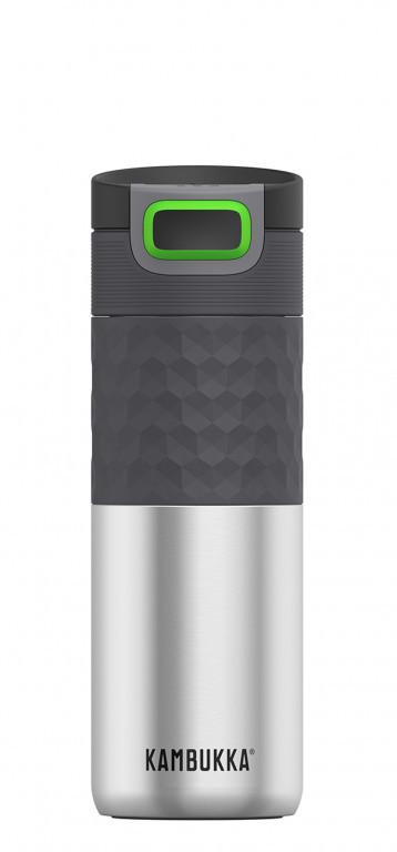 Kambukka: Etna Grip 3-in-1 Snapclean Travel Mug - Silver (500ml)