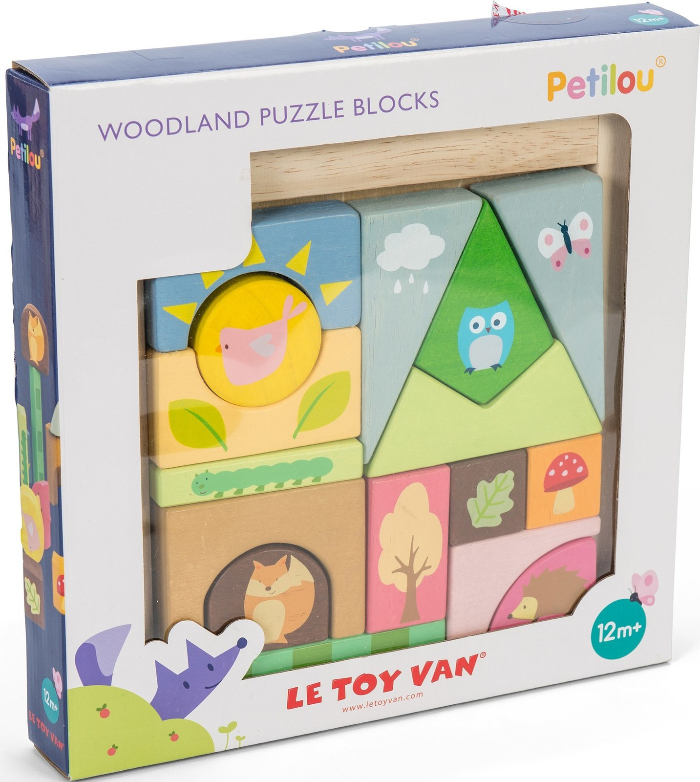 Le Toy Van: Petilou - Woodland Puzzle Blocks image