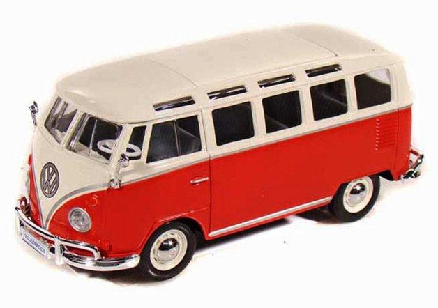 Maisto Special Edition: 1:24 Die-cast Vehicle - Samba Bus Van (Red)