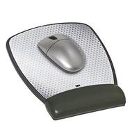 3M MW309LE Precise Mouse Pad with Gel Wrist Rest - Black