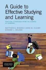 A Guide to Effective Studying and Learning by Oxford Editor